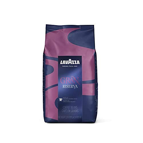 Lavazza Gran Riserva Whole Bean Coffee Blend, Dark Espresso Roast, 2.2-Pound Bag Authentic Italian, Blended And Roasted in Italy, Well rounded dark espresso roast