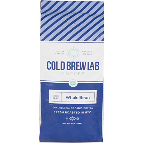 Cold Brew Organic Coffee Beans, Colombian Supremo, Dark Roast, 1 LB, Whole Bean Coffee for Cold Brewing