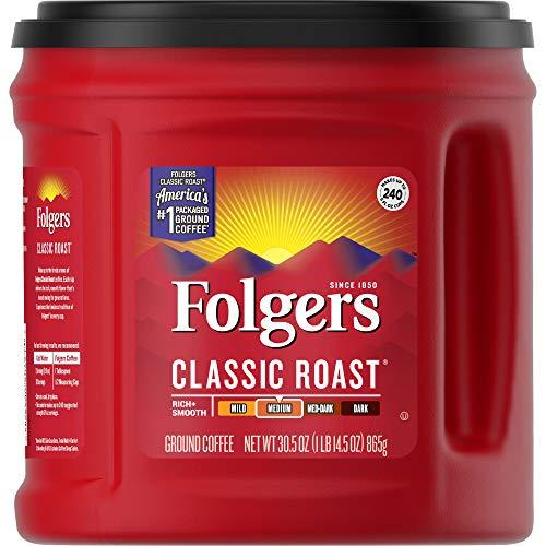 Folgers Classic Medium Roast Ground Coffee, 30.5 Ounces
