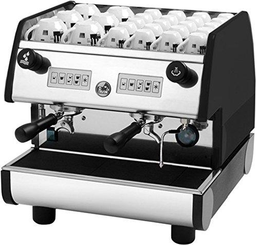 La Pavoni Pub 2V-B 2-Group Volumetric Electronic Espresso Machine, Golden Black, 4 Cups Size Selections, Independent Radiator Hydraulic System