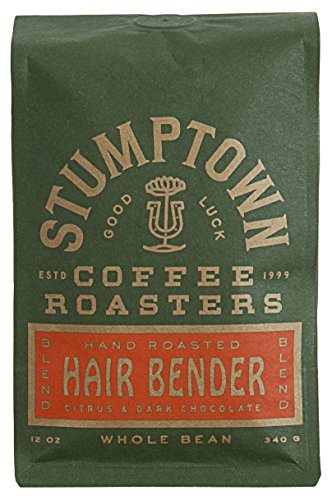 Stumptown Coffee Roasters, Hair Bender - Whole Bean Coffee - 12 Ounce Bag, Flavor Notes of Citrus and Dark Chocolate
