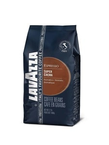 Lavazza Super Crema Whole Bean Coffee Blend Medium Espresso Roast