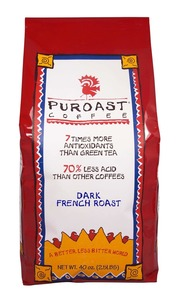 Puroast Low Acid Coffee, Organic French Roast