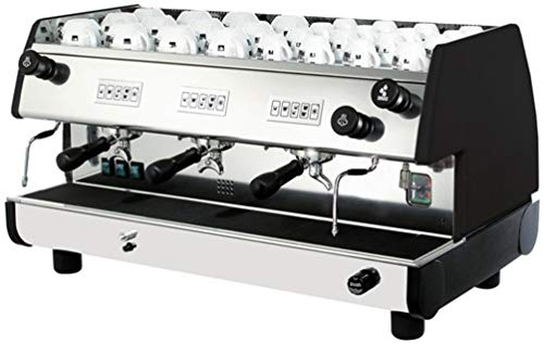 La Pavoni Bar-T 3V-B Commercial Volumetric Espresso/Cappuccino Machine, 3 Group, Black