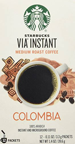Starbucks VIA Colombia Coffee, Medium Instant, 1.4 Ounce
