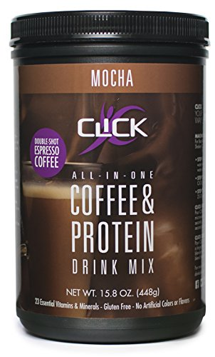CLICK All-in-One Protein & Coffee Meal Replacement Drink Mix, Mocha, 15.8 Ounce