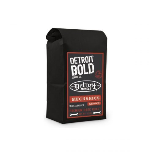 Detroit Muscle Mechanic's Choice Coffee - Dark Roast - Ground - 32 Ounce Bag - 100% Arabica - Detroit Bold Coffee