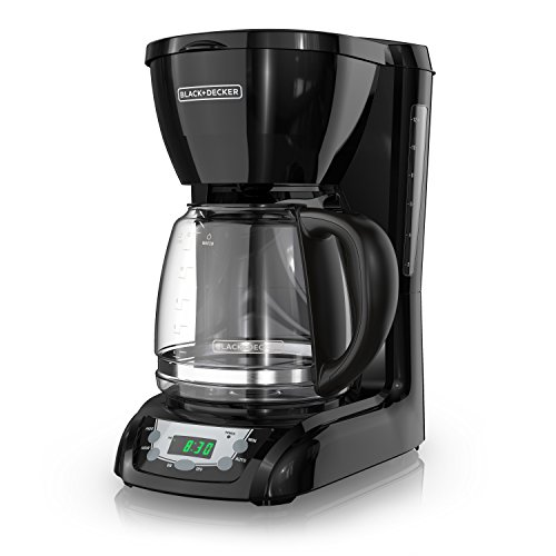BLACK+DECKER DLX1050B 12-cup  Programmable Coffee Maker with glass carafe, Black