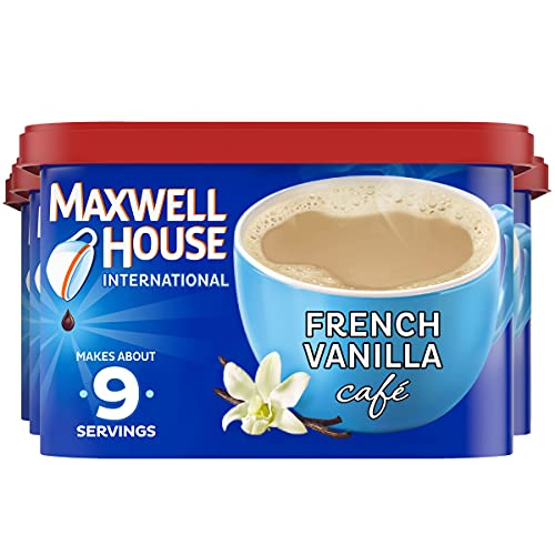Maxwell House International French Vanilla Cafe Beverage Mix, 4 ct. Pack, 8.4 oz. Canisters
