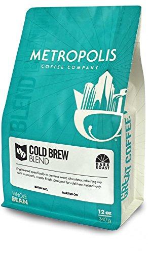 Metropolis Coffee Company - Cold Brew Blend, Dark Roast (Whole Bean, 12oz Bag)