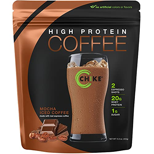 Chike High Protein Iced Coffee, Mocha, 14 Servings (15.3 Ounce)