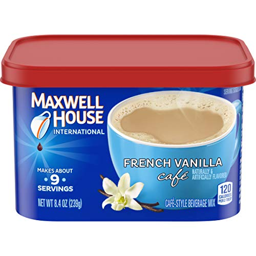 Maxwell House International French Vanilla Café Instant Coffee (8.4 oz Canisters, Pack of 4)