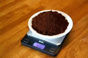 How many grams of ground coffee per cup