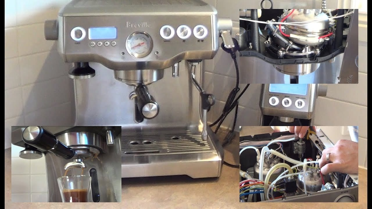 Breville espresso machine leaking water from bottom