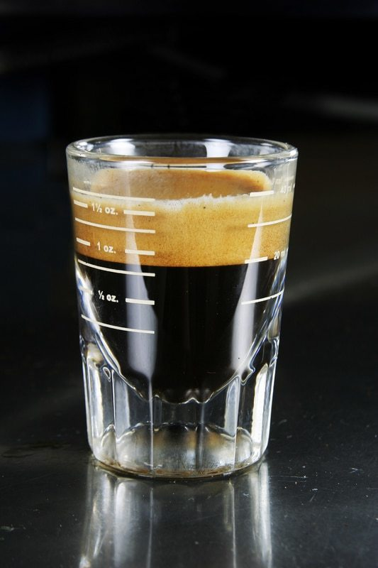 How much caffeine is in an espresso shot?