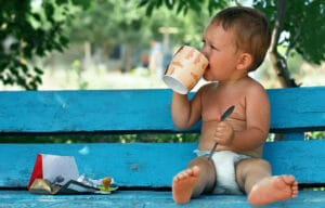 Can kids drink decaf coffee?